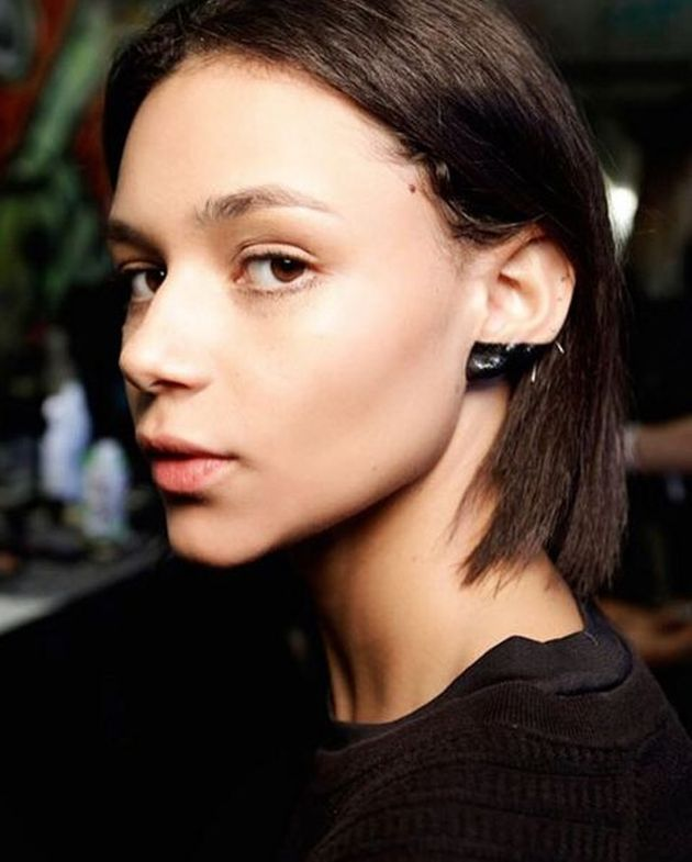 black ear makeup