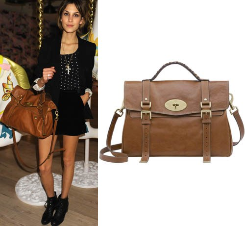 style blogs fashion alexa chung mulberry bag thumb 500x461 - 8 Handbags Named After Famous Ladies