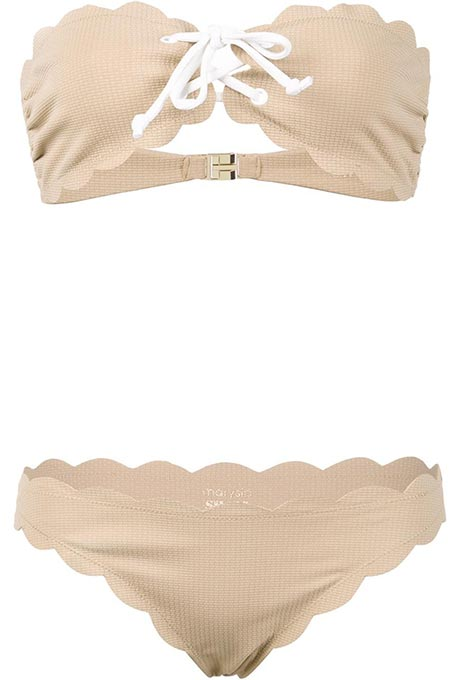 Nude two-piece swimsuit