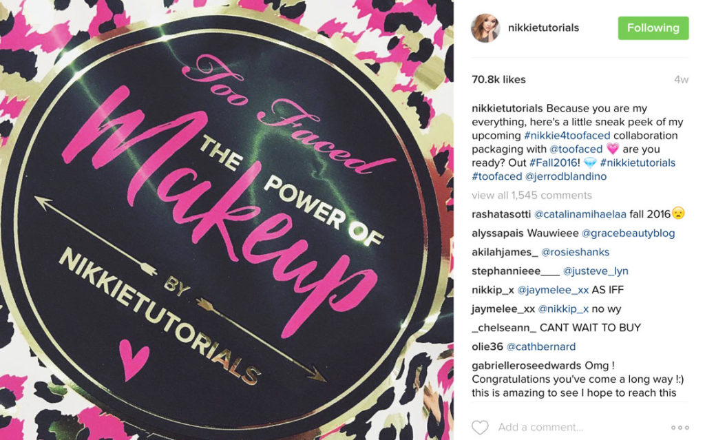 nikkie tutorials too faced collaboration 1024x639 - Partnerships: The Essence of Success
