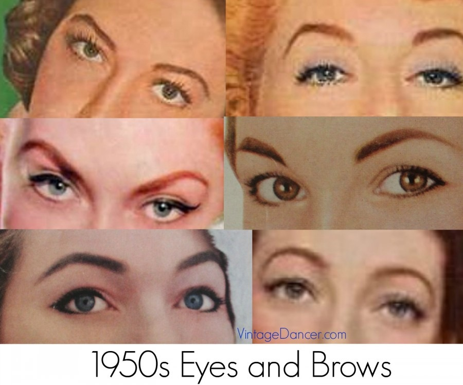 1950s makeup eyes eyebrows 900x748 1 - A Vintage Valentine
