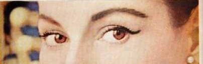 1957 eye wing makeup - A Vintage Valentine