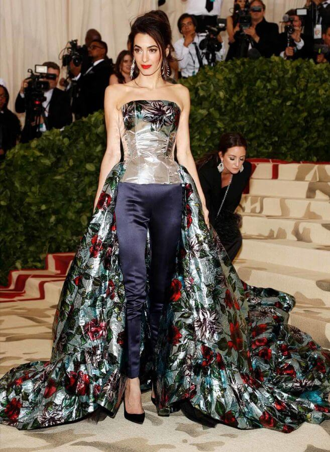Amal Clooney in Richard Quinn - Our Favorite Met Gala Looks in the Last Decade
