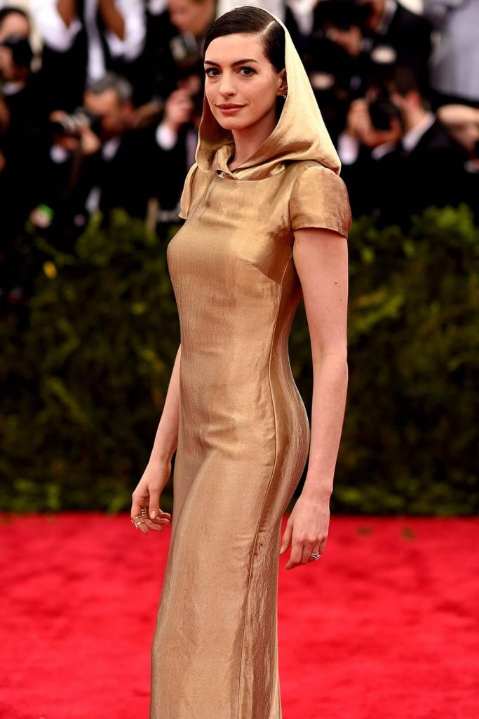 Anne Hathaway in Ralph Lauren 2015 683x1024 - Our Favorite Met Gala Looks in the Last Decade