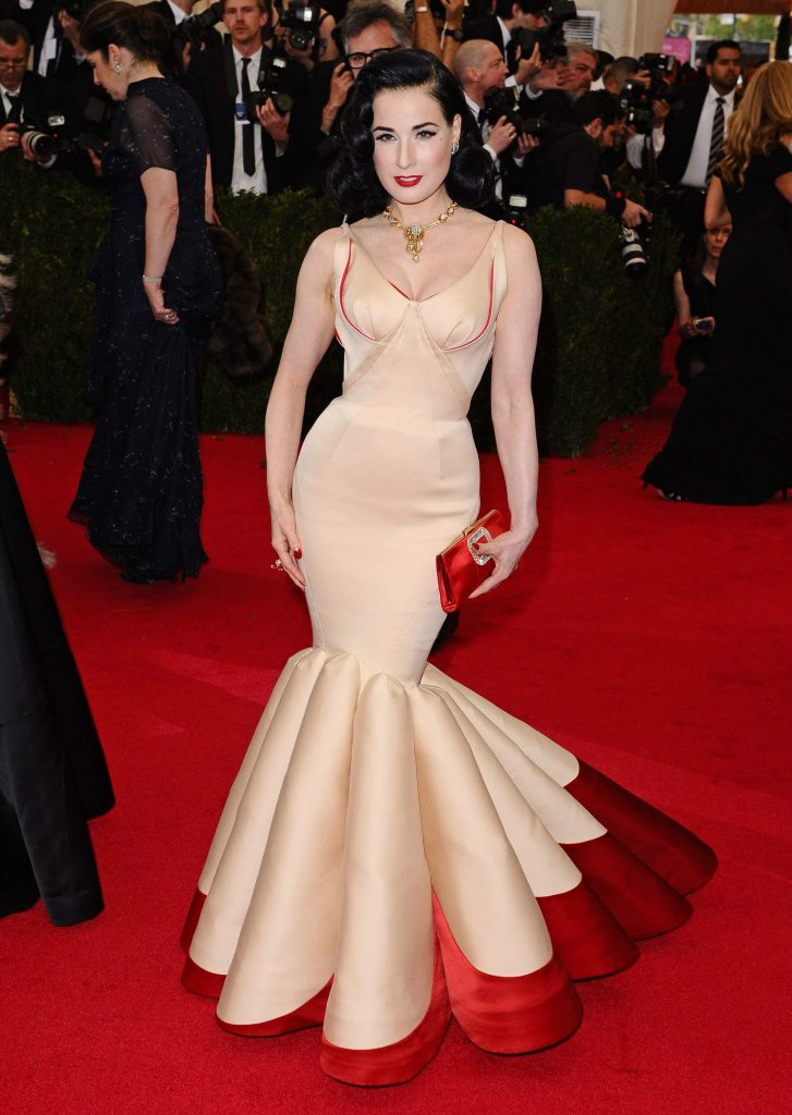 Dita von Tesse in Zac Posen 2014 1 727x1024 - Our Favorite Met Gala Looks in the Last Decade